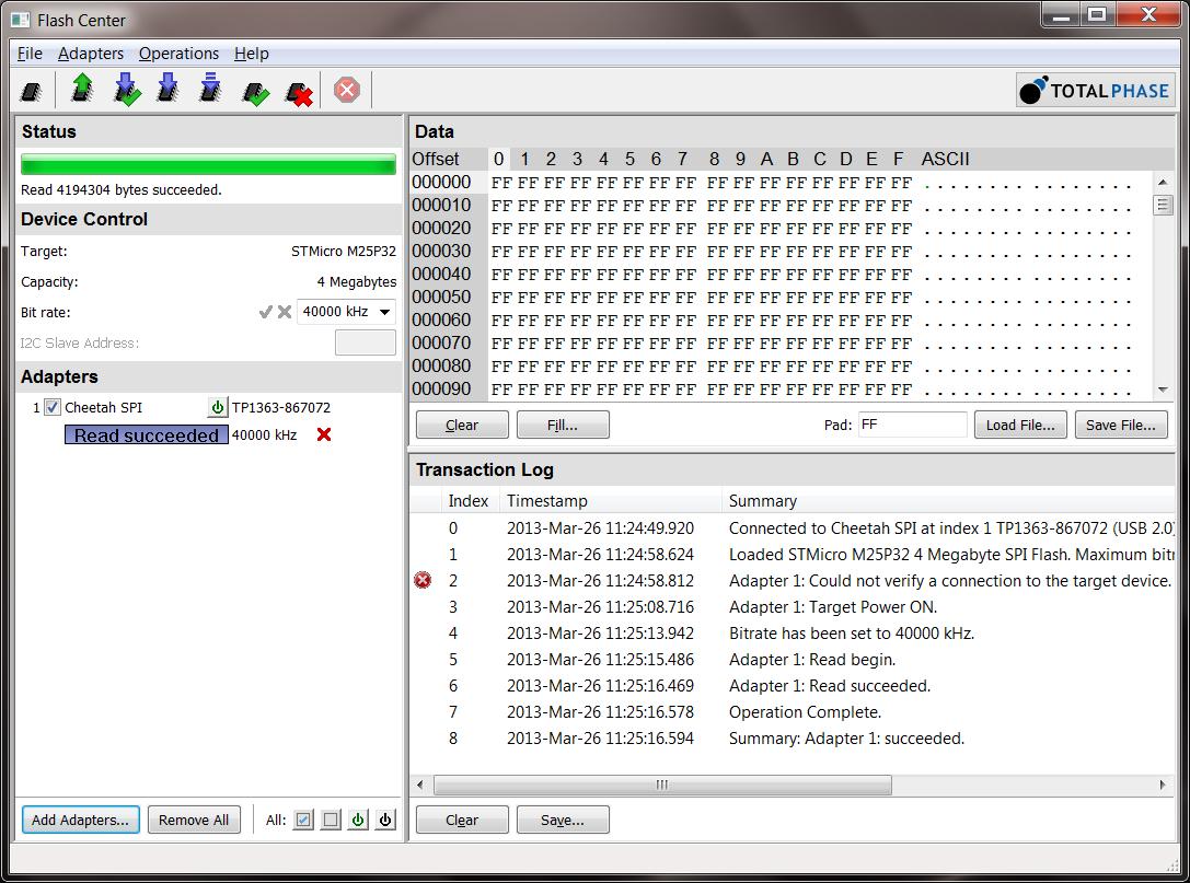 Free I2C/SPI EEPROM and Flash memory programming GUI